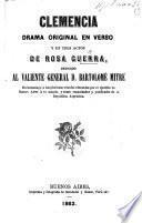 Clemencia: drama original en verso y en tres actos