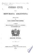 Código civil de la República Argentina