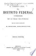 Código civil del Distrito federal y territorio de la Baja California