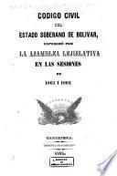 Código civil del estado soberano de Bolívar