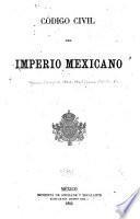 Código civil del Imperio Mexicano