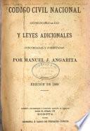Código civil nacional concordado y leyes adicionales