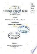 Codigo de colonizacion y terrenos baldios de la Republica Mexicana