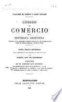 Código de comercio de la República Argentina sancionada por el Honorable Congreso nacional el 5 de octubre de 1889 puesto vigencia desde el 10 de mayo de 1890