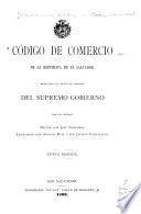 Código de comercio de la República de El Salvador