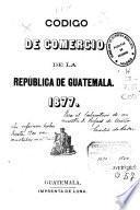 Código de Comercio de la República de Guatemala