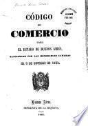 Código de comercio para el Estado de Buenos Aires