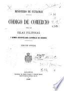Código de comercio para las Islas Filipinas, y demás archipiélagos españoles de Oceanía