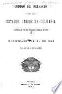 Código de comercio para los Estados Unidos de Colombia