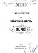 Código de enjuiciamientos en materia civil del Perú