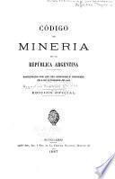 Código de mineria de la República Argentina
