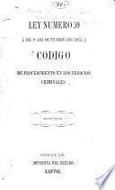 Código de procedimiento en los negocios criminales
