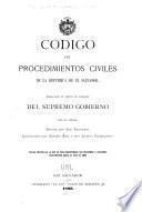 Código de procedimientos civiles de la República de El Salvador