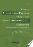 Código General del Proceso y Código de Procedimiento Civil