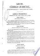 Código judicial del estado soberano de Antioquia