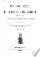 Código penal de la república del Salvador