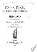 Código penal del estado libre y soberano de Hidalgo