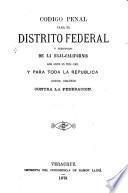 Código penal para el Distrito Federal y Territorios federales