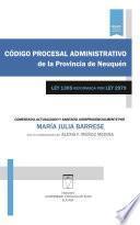 Código procesal administrativo de la provincia de Neuquén
