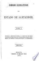 Códigos lejislativos del estado de Santander