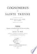 Cognomerus et Sainte Tréfine