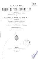 Coleccion bibliográfico-biográfica de noticias referentes á la provincia de Zamora, ó, Materiales para su historia