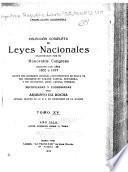 Colección completa de leyes nacionales sancionadas por el Honorable Congreso durante los años 1852-1917 ...