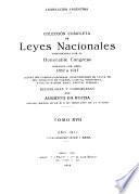 Colección completa de leyes nacionales sancionadas por el honorable Congreso durante los años 1852 a [1934]