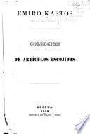 Colección de artículos escojidos