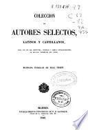 Colección de autores selectos latinos y castellanos: Año de retórica y poética (VIII, 822 p.)