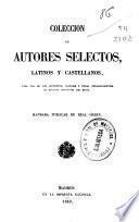 Colección de autores selectos latinos y castellanos