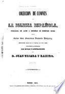 Coleccion de cánones de la iglesia espa5̃nola, publicada en latin á espensas de nuestros reyes