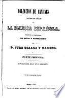 Coleccion de cánones de la iglesia española