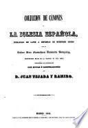 Coleccion de cánones y de todos los concilios de la Iglesia de Espana y de America. (en latin y castellano)