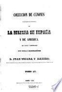 Coleccion de canones y de todos los concilios de la iglesia de Espana y de America (en latin y castellano)