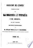 Colección de cánones y de todos los concilios de la iglesia de España y de América