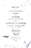 Coleccion de datos y documentos referentes á Misiones como parte integrante del territorio de la provincia de Corrientes
