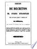 Colección de decretos y ordines del congreso del estado libre y soberano de México