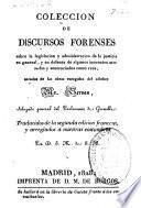 Coleccion de discursos forenses