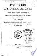 Colección de disertaciones sobre varios puntos agronómicos