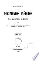 Coleccion de Documentos Inéditos