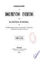 Colección de documentos inéditos para la historia de España