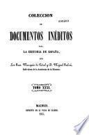 Coleccion de documentos ineditos para la historia de Espana