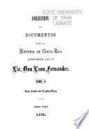 Colección de documentos para la historia de Costa Rica