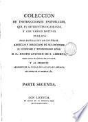 Colección de instrucciones pastorales ...