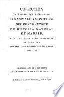 Coleccion de laminas que representan los animales y monstruos del Real Gabinete de Historia Natural de Madrid, 2