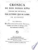 Colección de las crónicas y memórias de los reyes de Castilla: Crónica de Don Pedro Niño