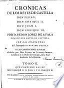 Coleccion de las cronicas y memorias de los reyes de Castilla ...
