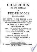 Coleccion de las Guerras de Federico II el Grande