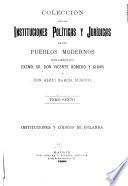 Colección de las instituciones políticas y jurídicas de los pueblos modernos